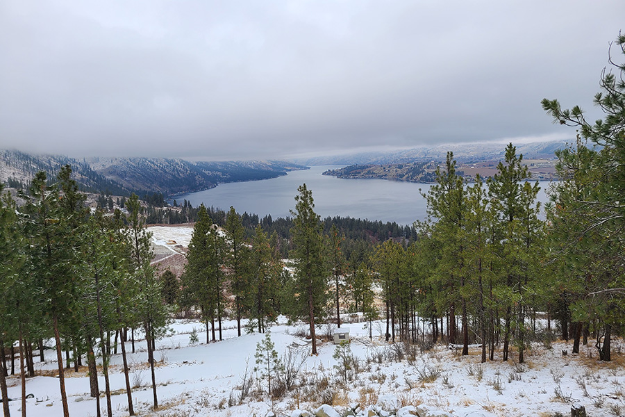 Chelan Washington in the Winter